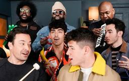 Jimmy Fallon is a 'Sucker' for the Jonas Brothers with Classroom Instruments