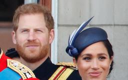 Prince Harry appeared to tell Meghan Markle to 'turn around' during Trooping the Colour, and some fans think he made her cry
