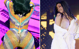 Oh No!Cardi B Suffers a Major Wardrobe Malfunction and Has to Finish Performance in a Robe
