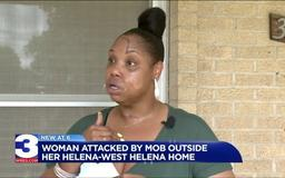 Woman brutally attacked by mob outside of Arkansas home