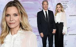 Michelle Pfeiffer and David E. Kelley are a sartorially elegant couple at Fragrance Foundation Awards in NYC