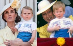 Prince Louis Rewears Outfit Prince Harry Wore to One of His First Trooping the Colour Outings