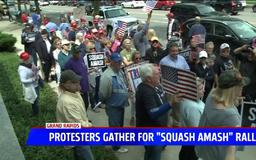 Trump supporters rally to 'Squash Amash'