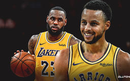 Stephen Curry signs 'Wish You Were Here' card for LeBron James