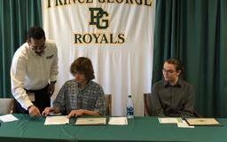 Prince George High School Employment Signing Day