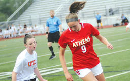 Troy High girls soccer beats Athens to win third straight district title