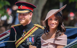 A look back at Prince Harry and Meghan Markle's sweet Trooping the Colour moment