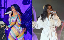 Cardi B's Outfit Rips Mid-Performance, Rapper Finishes Set in Bathrobe