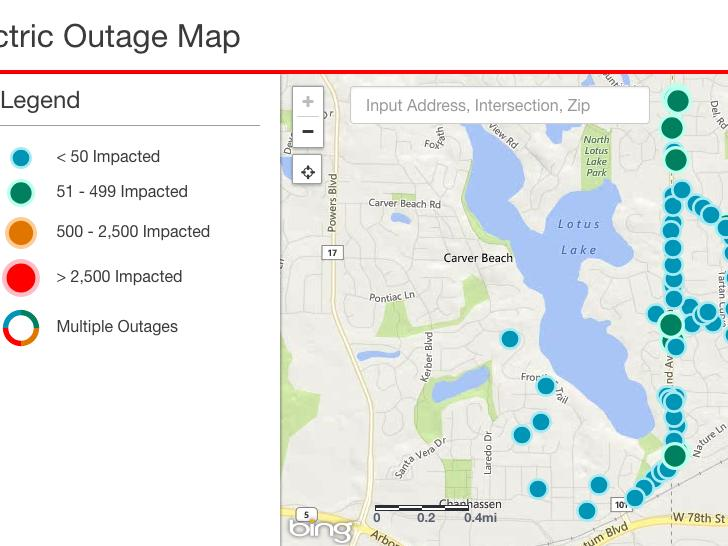 sioux valley energy power outage map Power Outage Affects Over 1 000 Customers In Lotus Lake Area Xcel
