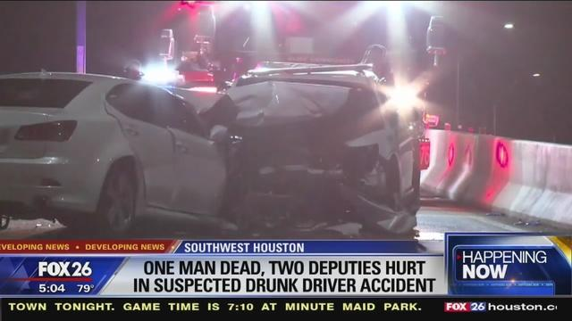 Man in patrol car killed, 2 deputies hurt in crash with suspected