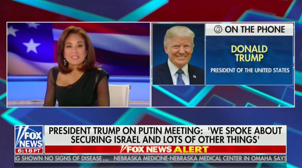 Trump Tells Pirro He'd Release Conversation With Putin After Report