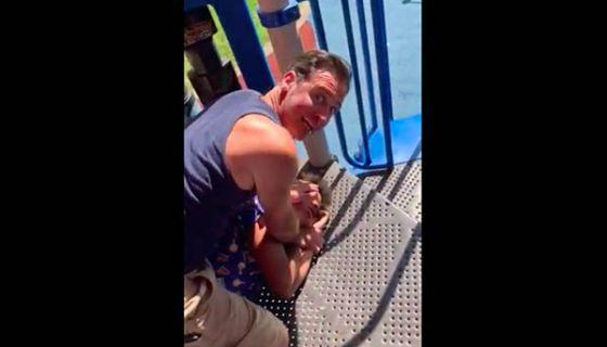 White Man Brutally Attacks A 13-Year-Old Black Child On A Playground