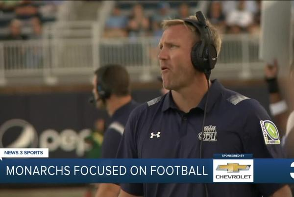 Picture for ODU football blocking out realignment noise coming off bye