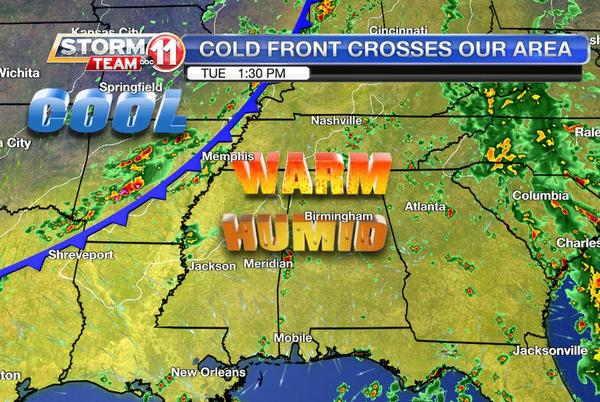 Picture for A cold front will help bring in the change of seasons
