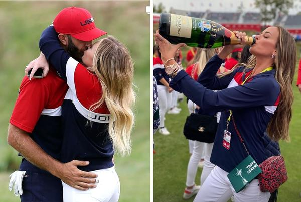 Picture for WAGs and players celebrated Ryder Cup with a lot of champagne