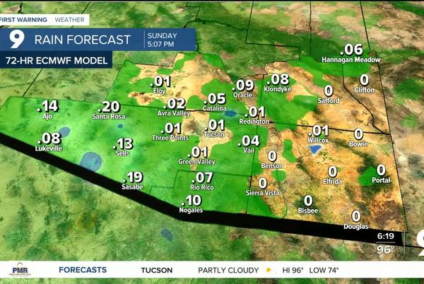 Picture for A chance of rain returns to southern Arizona to finish the week