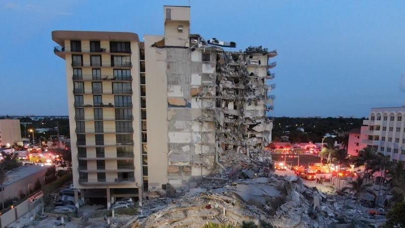 Picture for A 12-story Florida condo building suddenly collapsed, killing at least 1 person
