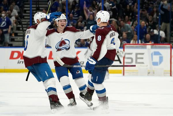 Picture for Avalanche never trails and defeats two-time defending Stanley Cup champion Tampa Bay
