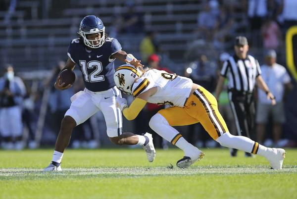Picture for UConn comeback thwarted by Wyoming on 2-point conversion