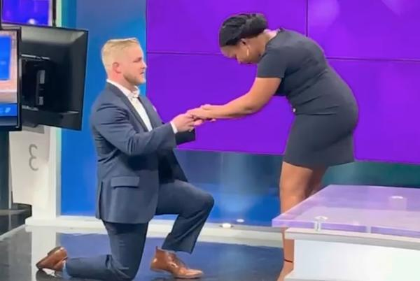 Picture for KY Meteogologist's Boyfriend Proposes on Live TV – Are Public Proposals Cute or Cringy?