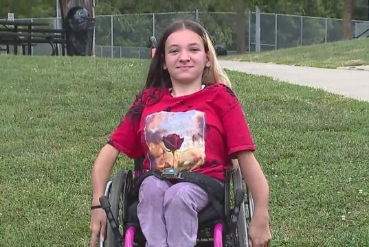 Picture for Missouri high school cheerleader says she's been sidelined because of wheelchair