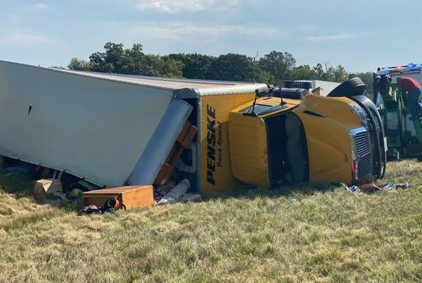 Picture for Woman dead after rental truck rolls on I-70 in Kansas