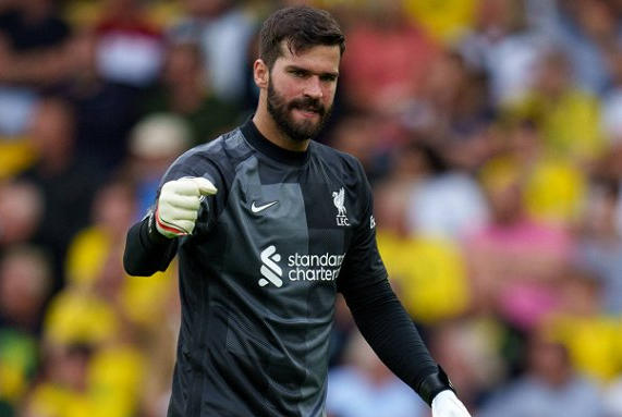 Picture for Liverpool keeper Alisson: Elliott arrived at 16 and we all recognised his quality