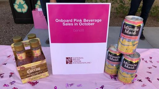 Allegiant Will Sell Pink Drinks To Benefit National Breast Cancer