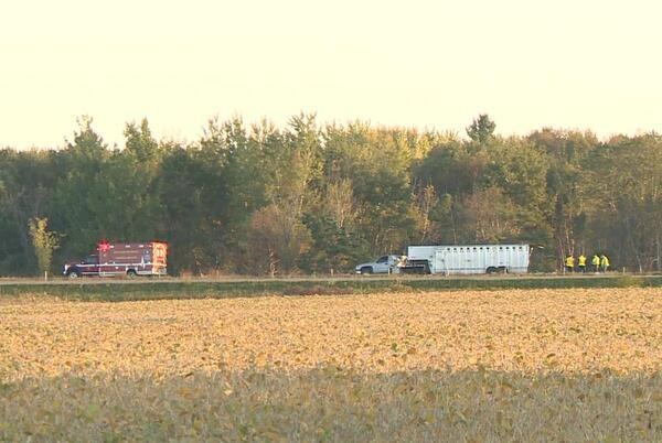 Picture for Crash involving livestock trailer partially closes I-94
