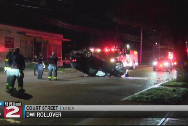 Picture for Driver charged with DWI following rollover crash in Utica