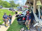 Picture for A vehicle crashes through apartment in Branson