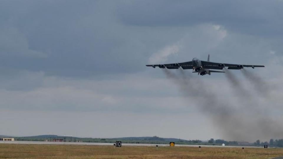 Picture for B-52H bombers fly over the Arctic from Spain to Louisiana
