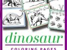 Picture for Free Dinosaur Coloring Pages
