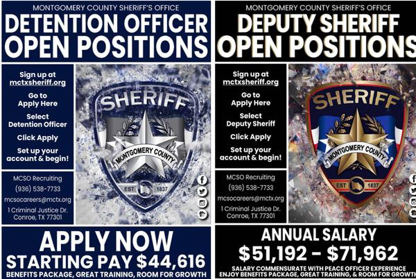 Picture for MCTXSheriff Now Hiring