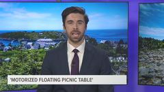 Cover for Mobile picnic: Maine man makes, sells motorized floating picnic tables