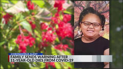 Cover for Arkansas family mourning 11-year-old who died from COVID complications