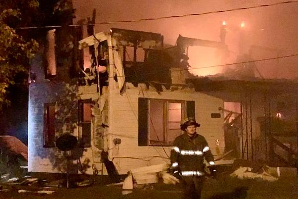 Picture for House fire in Sarcoxie, first report that second floor fully engulfed