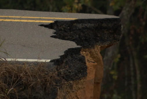 Picture for Crews repairing collapsed MS highway wary of rain, flooding