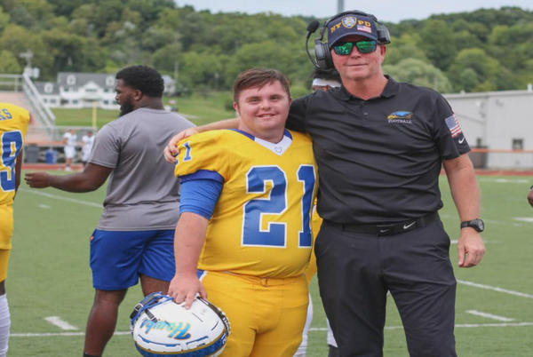 Picture for Hocking College football player Caden Cox makes history