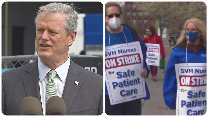Cover for Gov. Baker Calls For Action Towards Ending Nurses' Strike At St. Vincent Hospital