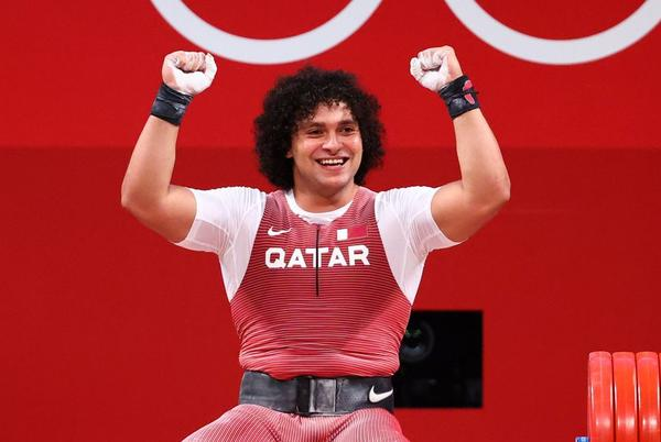 Picture for Weightlifting-Qatar's Elhakh wins gold in men's 96 kg event