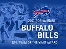 Picture for Bills named 'NFL Team of the Year' award by Pop Warner