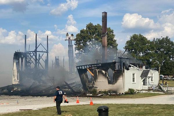 Picture for UPDATED: Beecher Lutheran church destroyed by fire