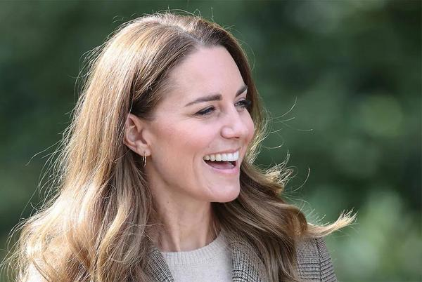 Picture for Kate Middleton rocks a heritage print blazer and sun-kissed highlights on royal visit