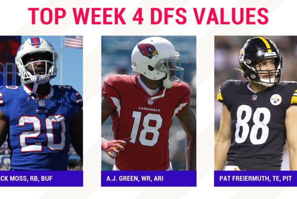 Picture for NFL DFS Picks Week 4: Best sleepers, value players for DraftKings, FanDuel daily fantasy football lineups