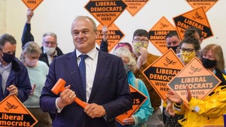 Picture for Ed Davey says Lib Dems could win 'dozens' of blue wall seats from Tories after by-election win