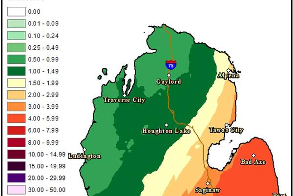 Picture for Up to 5 inches of rain, flood watch for large part of Lower Michigan