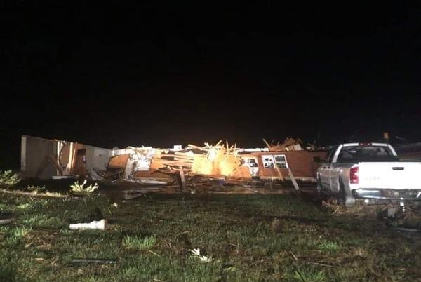 Picture for Several homes destroyed, no injuries reported in reported tornado that touched down in southern SFC; Madison County sees damage