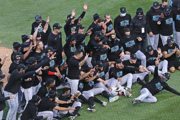 Picture for Miami Marlins sweep Chicago Cubs, now 7-0 all time in playoff series
