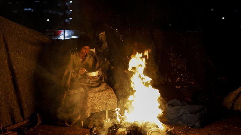 Picture for Brazil scrambles to shield homeless people from biting cold